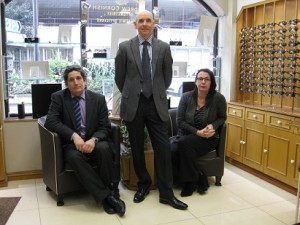 Our team, Andrew, Mandy and Peter.