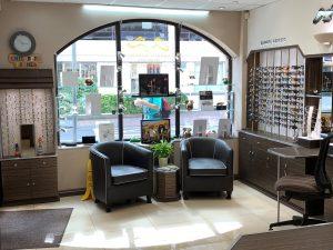 Reception Glasses area